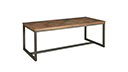 Mesa de comedor rectangular estilo industrial retro 220 cm - Kingdom